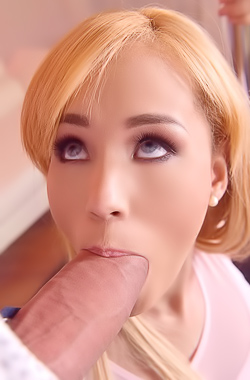 Hot Blonde Natasha Teen Sucking Massive Cock